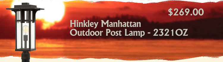 Hinkley Manhattan Outdoor Post Lamp