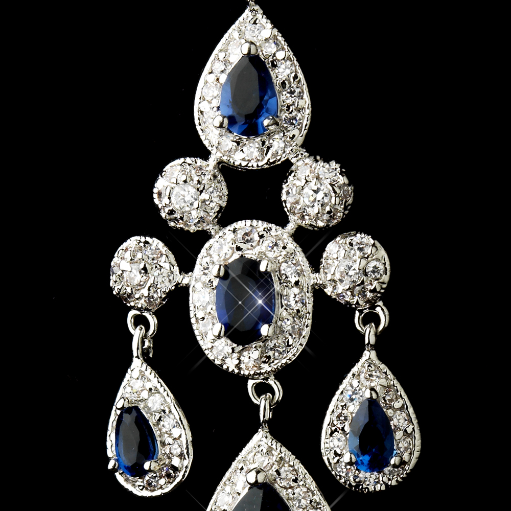 A touch of class creations park avenue cubic zirconia cz park avenue cubic zirconia cz chandelier earrings sapphire blue arubaitofo Images