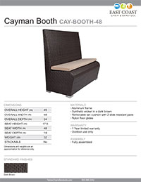Cayman Collection Outdoor Booth