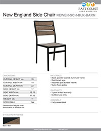New England Collection Side Chair
