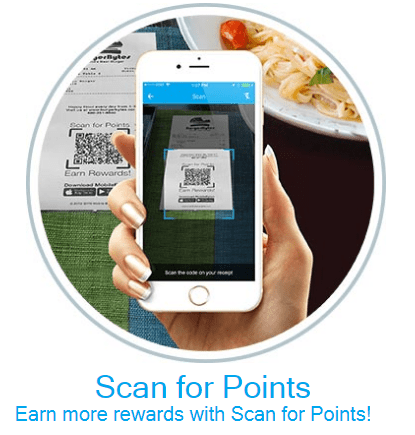 Heartland Restaurant point of sale scan for points