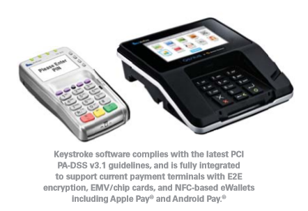 Keystroke Express interfaces with payments