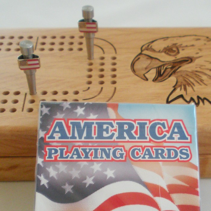 USA American Flag Patriotic Cribbage Pegs in Stainless