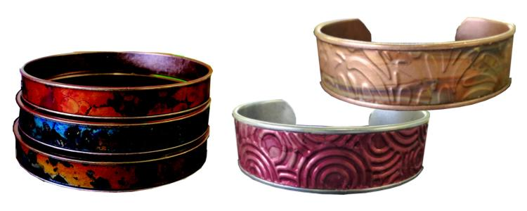 patina copper cuffs