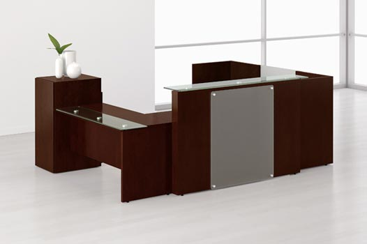 A Reception Area That Provides Proper Customer Seating Occasional Tables And Quality Station For All Important Receptionist