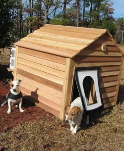 air conditioned dog houses option. Black Bedroom Furniture Sets. Home Design Ideas