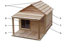 All natural earth friendly dog house precision handcrafted of Western red cedar wood from sustainable forestry.