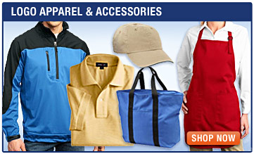 Logo Apparel and Accessories - Custom T-Shirts, Embroidered Polos, Hats, Personalized Robes, Aprons, Bags