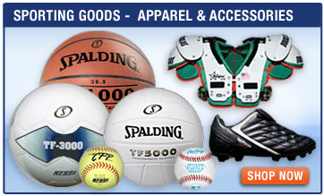 Sporting Goods - Apparel and Accessories - Football, Basketball, Soccer, Volley Ball, Balls, Training Accessories, Shoes, Bags, Sports Gear and Equipment