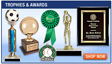 Trophies and Awards, Personalized Gifts, Ribbons, Gavels, Key Chains, Clocks