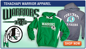 Tehachapi Warrior Apparel - Warrior Sweatshirts, Warrior Shirts, Hats