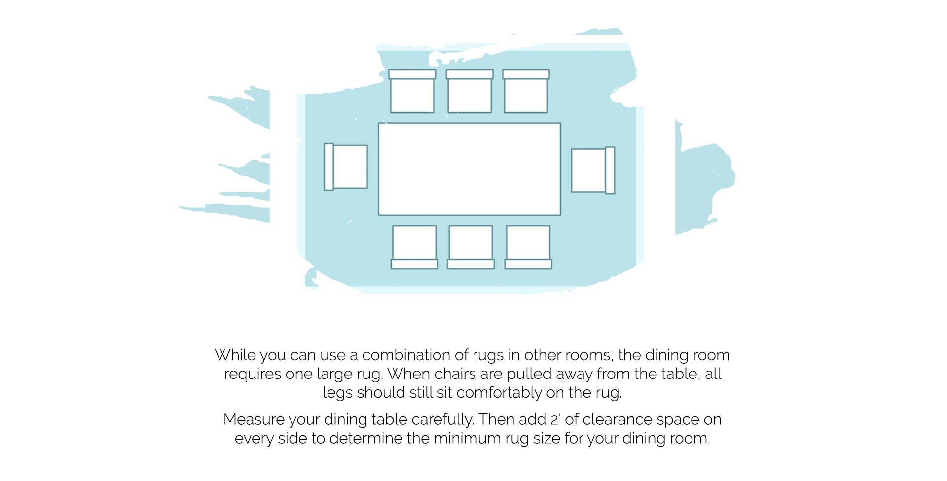 Rug placement tips for the dining room