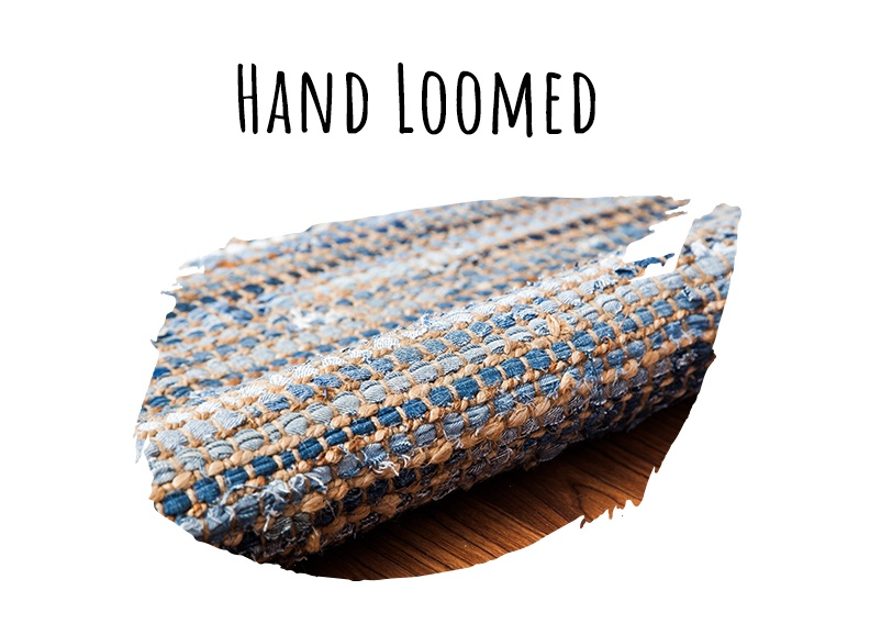 Rug weaving style - hand-loomed weave