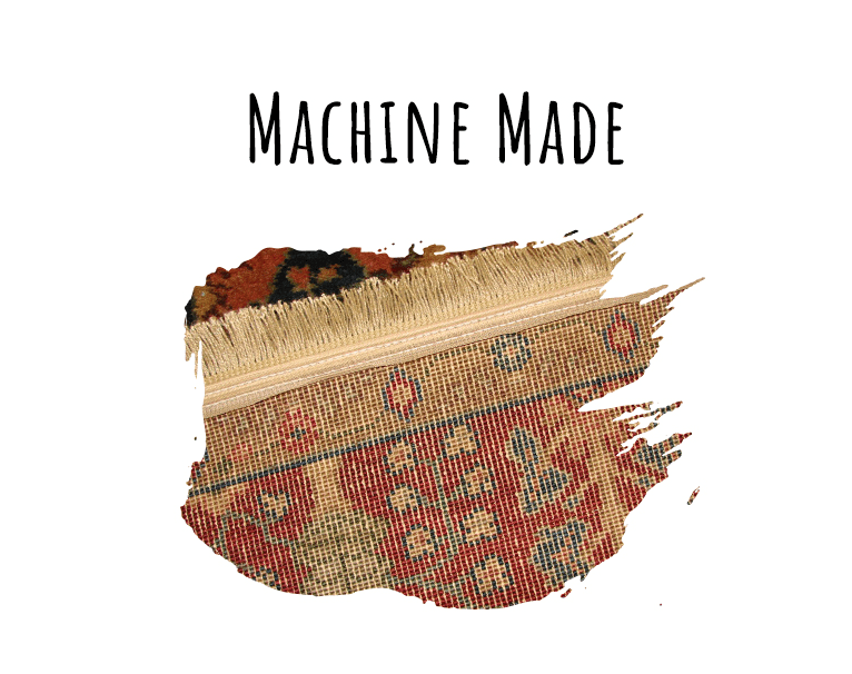 Rug weaving style - machine-made weave