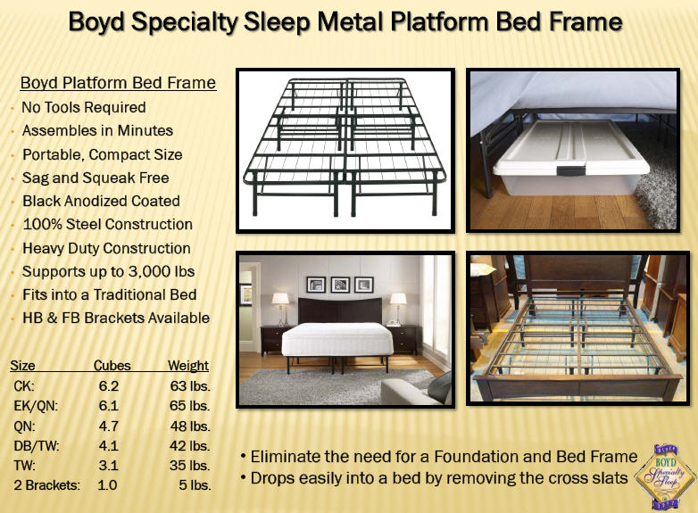 this metal bed frame support works great with any of our latex foam beds or eco friendly memory foam mattresses easy to assemble and costs much less than - Platform Bed Frame For Memory Foam Mattress