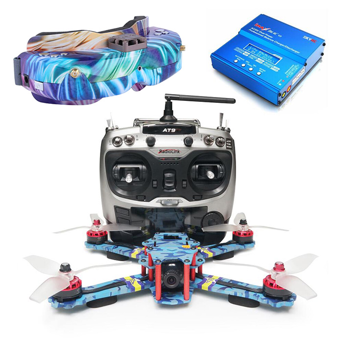 ARRIS C250 V2 FPV Racing Drone RTF with Skyzone SKY02C Fpv Goggle Boundle