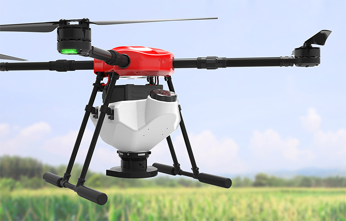 ARRIS E410 4 Axis 10L Agricultural Seed Spraying Fertilizer Spraying Drone