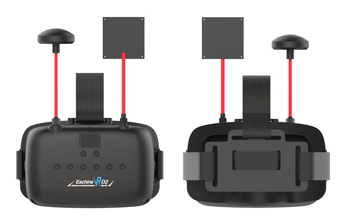 Resultado de imagen de Eachine VR D2 5 Inches 800*480 40CH Raceband 5.8G Diversity FPV Goggles with DVR Lens Adjustable