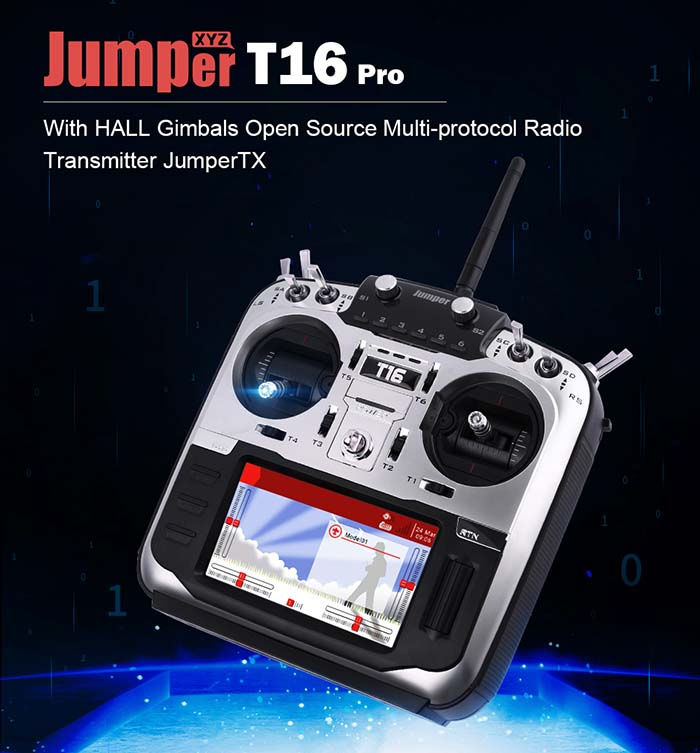Jumper T16 Pro Hall Sensor Gimbal Open Source Radio