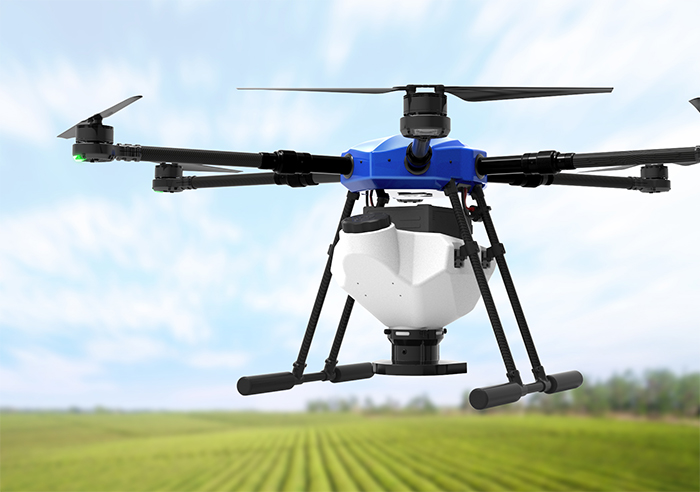 agriculture drones spraying fertilizers