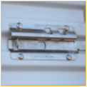garage door slide latch and lock keeper