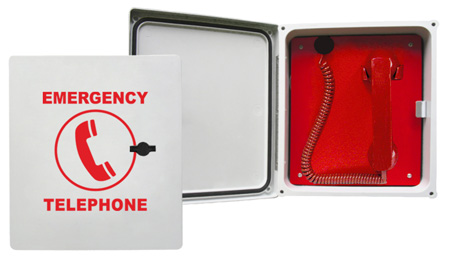 2300-614GSM Enclosed, Emergency Cellular Pool Phone with (Handset & Coil Cord)