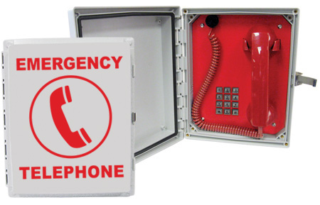 624MPOOLVOIP Enclosed, Emergency VoIP Pool Phone with (Handset, Keypad & Coil Cord)