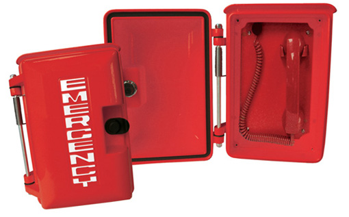 690RDPOOLD Heavy Duty, Enclosed, Emergency Digital Pool Phone with (Handset & Coil Cord)