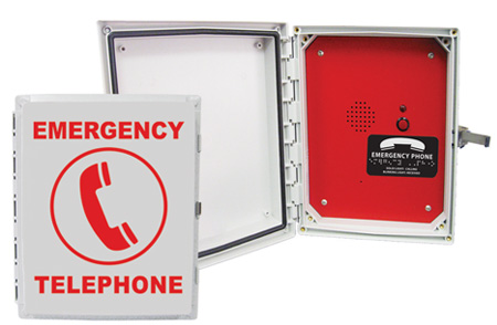 970POOL Enclosed, Emergency Analog Speaker Pool Phone (Hands Free)