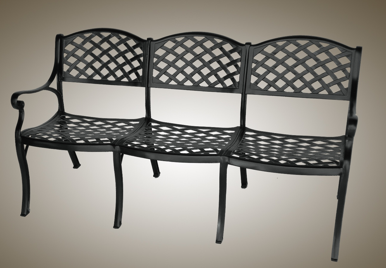 Swell Trois Woven Arch Bench Garden Decor Henfeathers Ncnpc Chair Design For Home Ncnpcorg