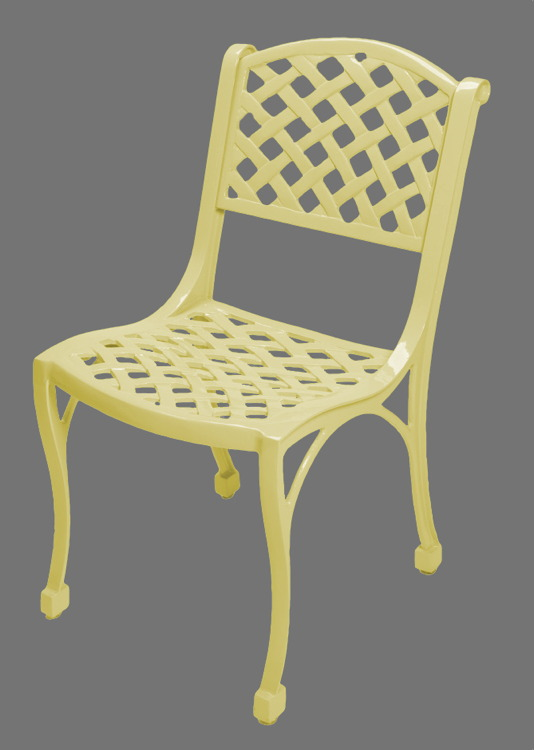 Woven Arch Armless Patio Chair 18 Inch Henfeathers