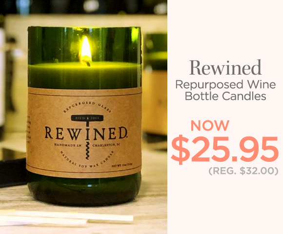 Rewined - Repurposed Wine Bottle Candles - NOW $25.95 - Reg. 432.00