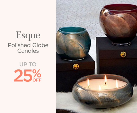 Esque - Polished Globe Candles - Up To 25 Percent OFF