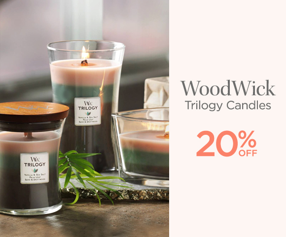 WoodWick - Trilogy Candles - 20 Percent OFF