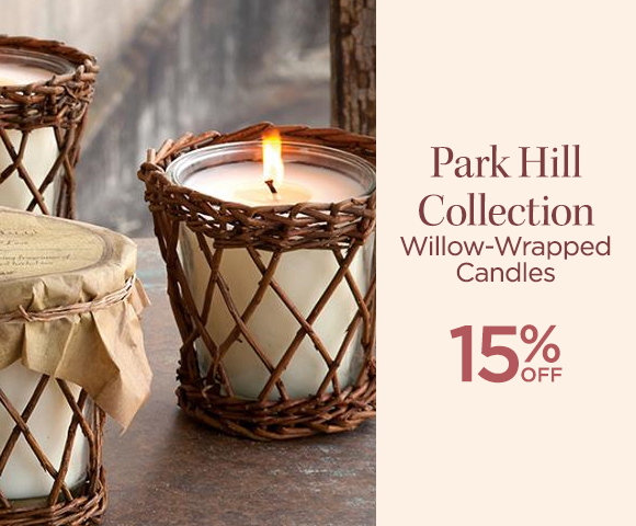 Park Hill Collection - Willow-Wrapped Candles - 15 Percent OFF