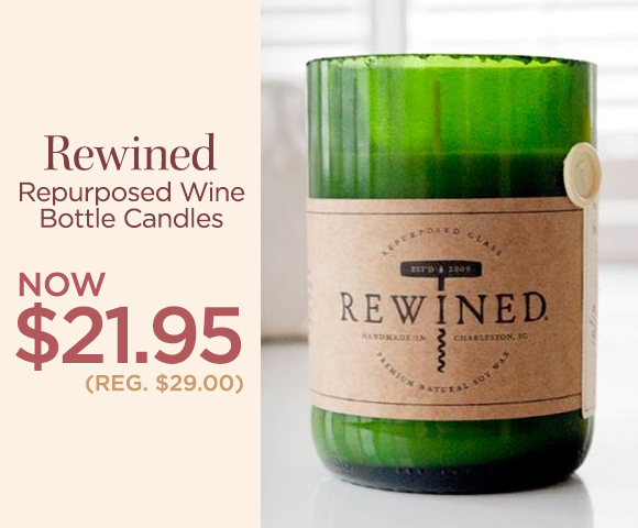 Rewined - Repurposed Wine Bottle Candles - NOW $21.95 - Reg. $29.00