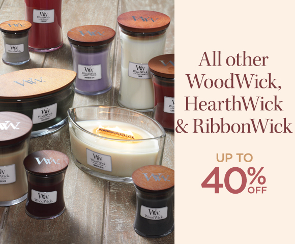 All other WoodWick HearthWick  and RibbonWick - Up To 40 Percent OFF