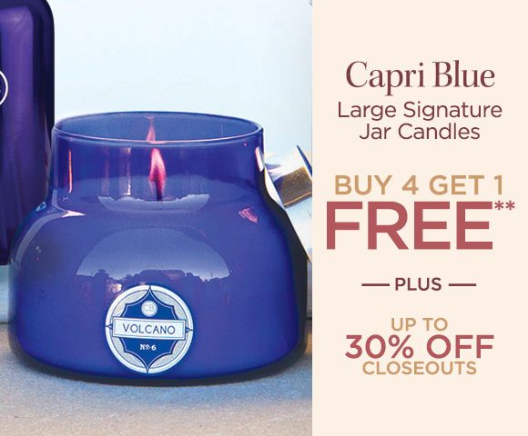 Capri Blue - Large Signature Jar Candles - Buy 4 Get 1 FREE** - Plus Up To 30 Percent OFF Closeouts