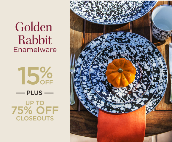 Golden Rabbit - Enamelware - 15% OFF - Plus Up To 75% OFF Closeouts