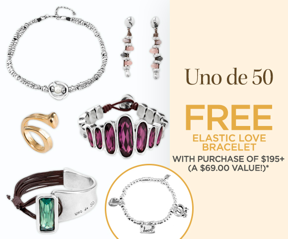 Uno de 50 - FREE Elastic Love Bracelet with Purchase of $195+ - A $69.00 Value *