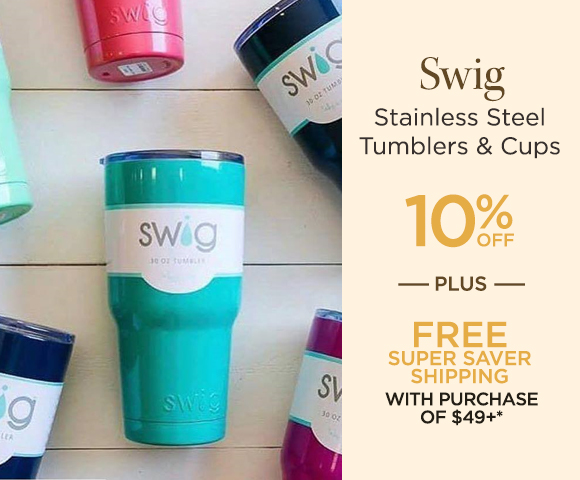 Swig - Stainless Steel Tumblers  Cups - 10 Percent OFF - Plus FREE Super Saver Shipping with Purchase of $49+*