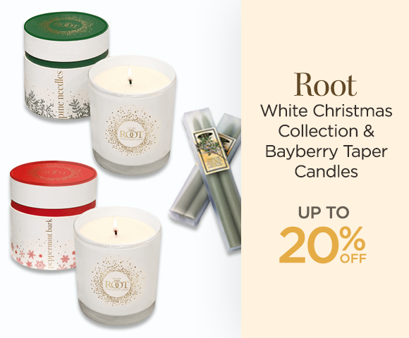 Root - White Christmas Collection & Bayberry Taper Candles - Up To 20% OFF