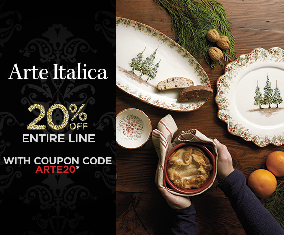 Arte Italica - 20 Percent OFF Entire Line with Coupon Code ARTE10 - Click for Details