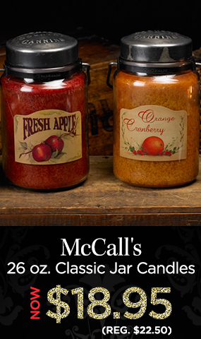 McCall's 26 oz. Classic Jar Candles - NOW $18.95 - Reg. $22.50