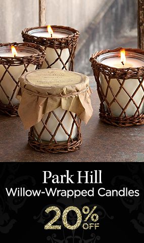 Park Hill Willow-Wrapped Candles - 20 Percent OFF