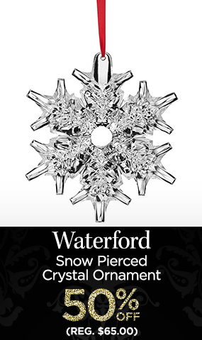 Waterford Snow Pierced Crystal Ornament - NOW $32.50 - Reg. $65.00