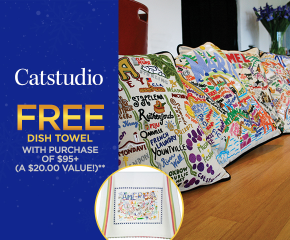 Catstudio - FREE Dish Towel with Purchase of $95 - A $20.00 Value