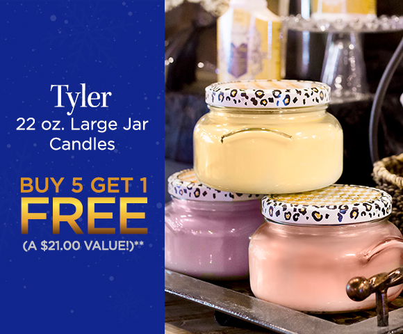 Tyler 22 oz. Large Jar Candles - Buy 5 Get 1 FREE - A $21.00 Value - Click for Details