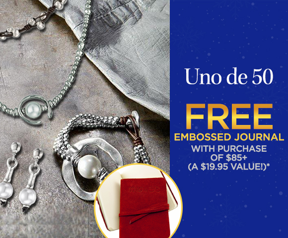 Uno de 50 - FREE Embossed Journal with Purchase of $85 - A $19.95 Value - Click for Details