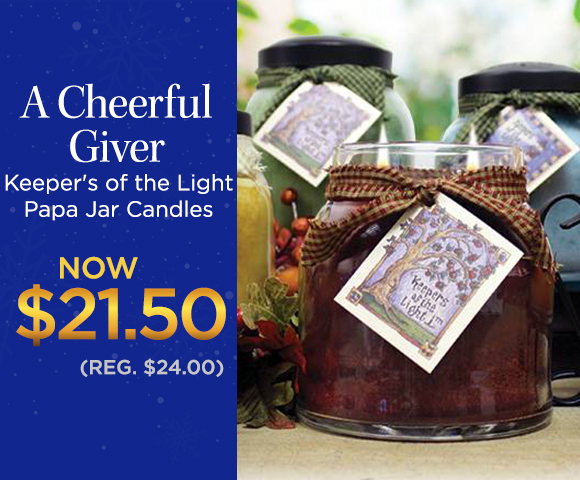 A Cheerful Giver Keeper's of the Light Papa Jar Candles - NOW $21.50 - Reg. $24.00